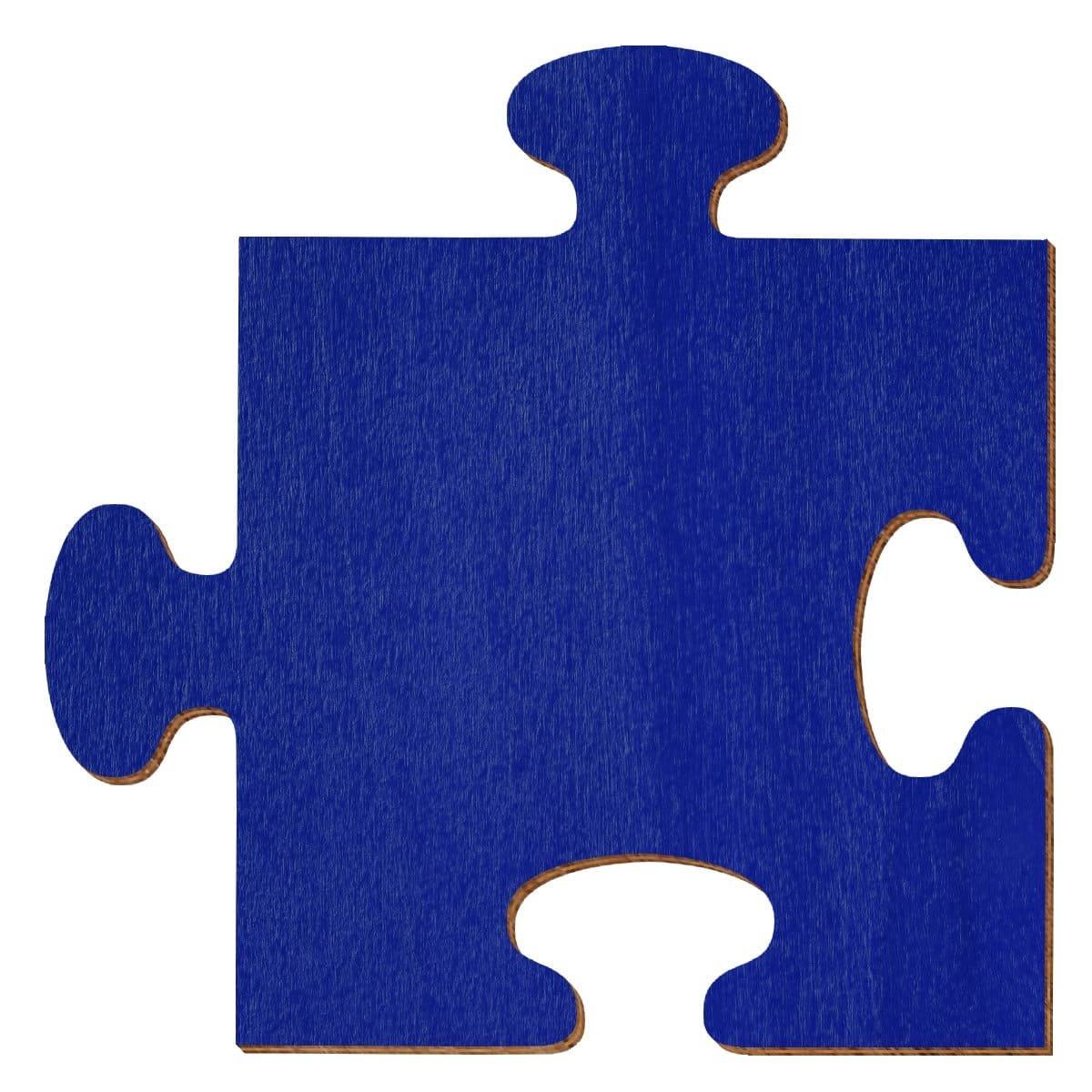 Bütic GmbH buetic compensato sbozzati Blu Scuro–Puzzle–Misura a Scelta–Pioppo 3mm, Compensato, 5 x 5cm