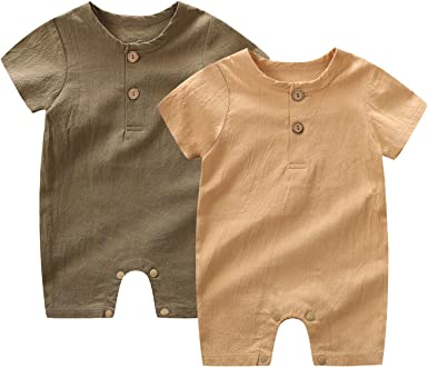 9-12 Month Feather Snap UpOpen Playsuit Romper