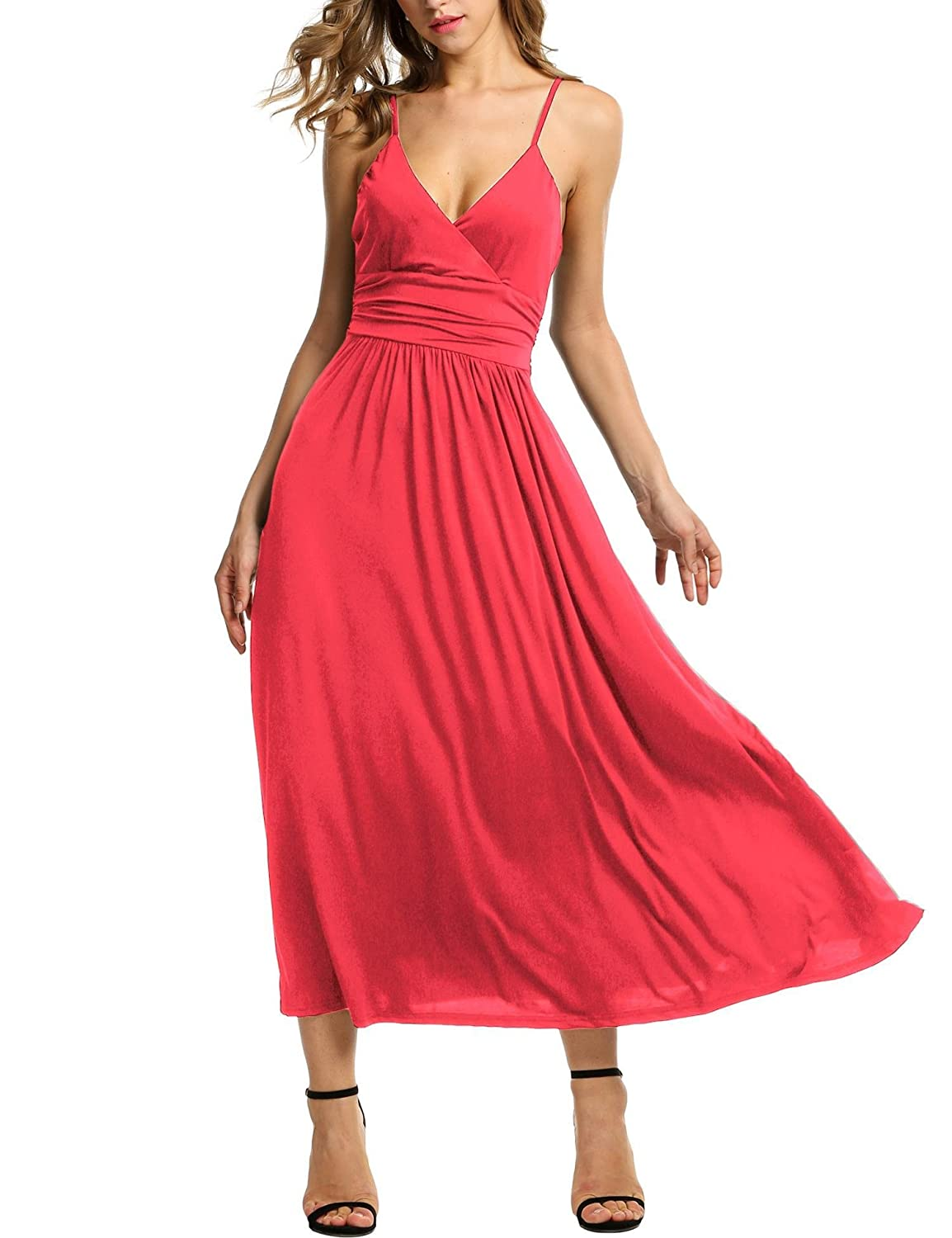 Top 10 wholesale Red Spaghetti Strap Long Dress - Chinabrands.com 92722b588