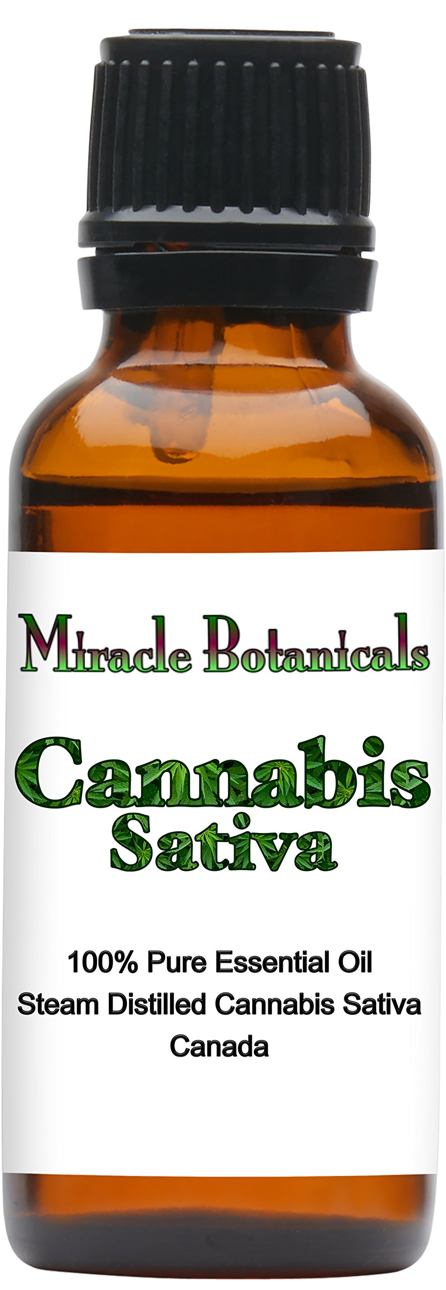 Miracle Botanicals Cannabis Sativa Essential Oil - 100% Pure Cannabis Sativa - Therapeutic Grade - 30ml/1oz.