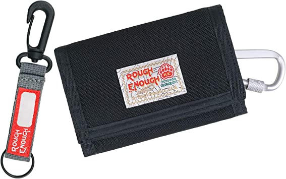 Red Rough Enough Credit Card Coin Holder Case Pocket by ROUGH ENOUGH