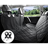 Bonve Pet Dog Seat Cover - Waterproof Pets Car Seat Covers Liner - with 2 Adjustable Pet Car Seats Safety Belts Best Dog Hammock Bench Protector for Cars, SUV, Truck Backseat