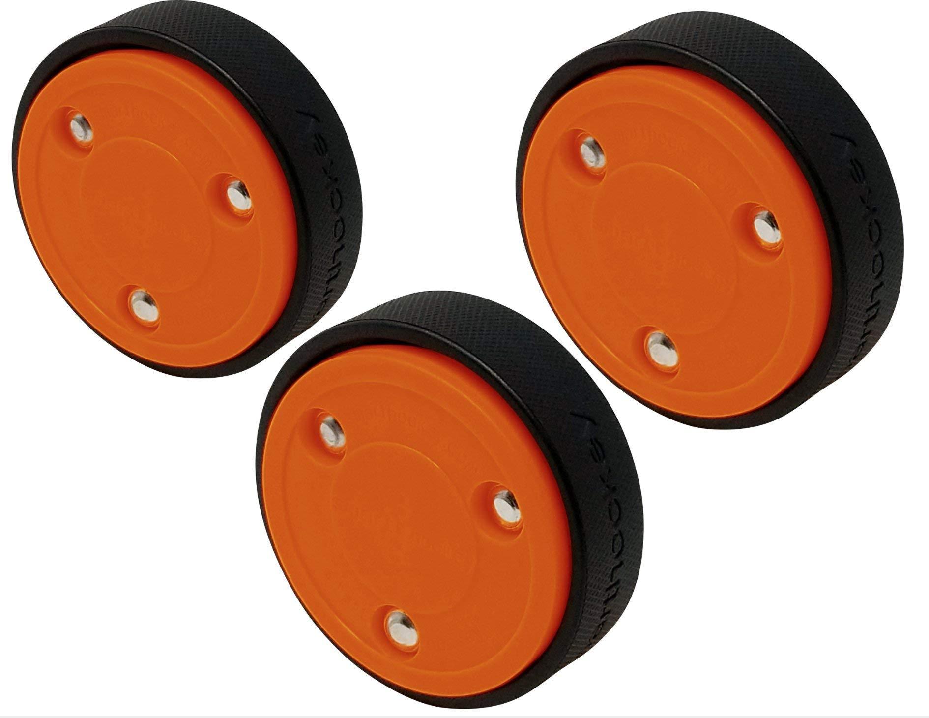Smarthockey 4oz Slider Hockey Training Speed Puck - Orange 3-Pack