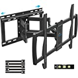 MOUNTUP TV Wall Mount, Full Motion TV Mount, Articulating Arms for Perfect Center, Sliding TV Bracket for Most 50 55 65 70 75