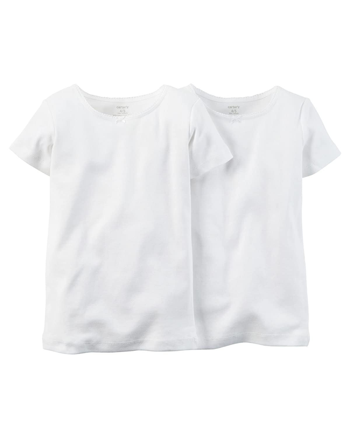 Carters Girls 2-Pack Cotton Short-sleeve Undershirt