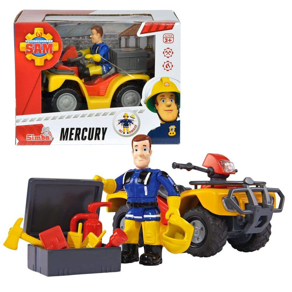 sam le pompier fireman sam v hicule suv quad mercury de caract re sam 11bchm0710398. Black Bedroom Furniture Sets. Home Design Ideas