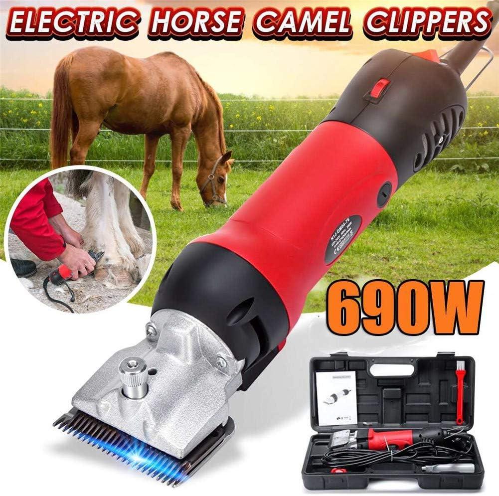Máquina de afeitar de Amitd para caballo, profesional, 690 W y 6 modos ajustables, para cortar el pelo, para caballos, para cuidado de caballos