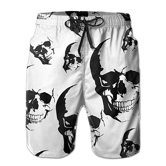 8a6da0e647 BBggyh Men's Skull Seamless Board Shorts Swim Trunks | Amazon.com
