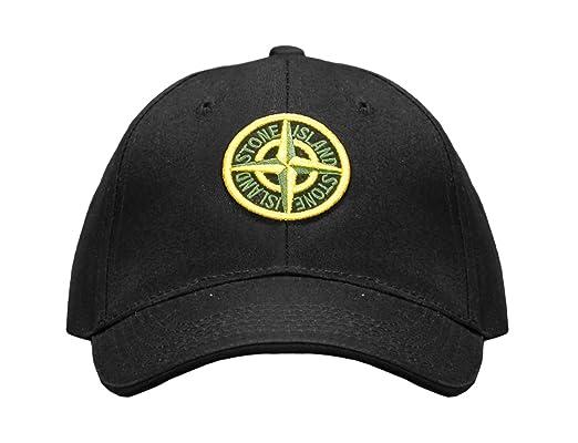 fb361482daa Stone Island Baseball Cap Black (Large)  Amazon.co.uk  Clothing