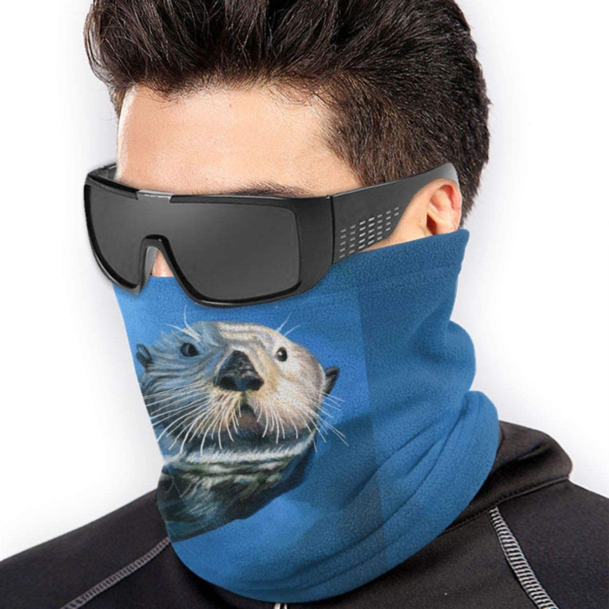 uytrgh Sea Otter Scarf Neck Warmer Soft Microfiber Headwear Face Scarf Mask For Cold Weather Winter Outdoor Sports 11111