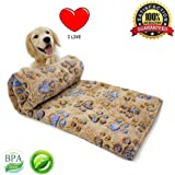 Pet Dog Blanket Fleece Fabric Puppy Baby Cat Soft Blankets Throw Comfortable For Sleep Mat Couch Sofa Doggy Warm Bed with Paw Prints