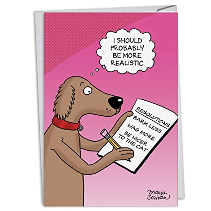 Amazon c4520nyg b12 box set of 12 dog resolutions new year c4520nyg b12 box set of 12 dog resolutions new year greeting cards with envelopes m4hsunfo