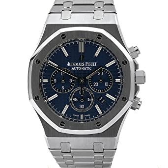 b65fcfc4211e0 AUDEMARS PIGUET ROYAL OAK CHRONOGRAPH STAINLESS STEEL WATCH 41MM BLUE DIAL  26320ST.OO.1220ST
