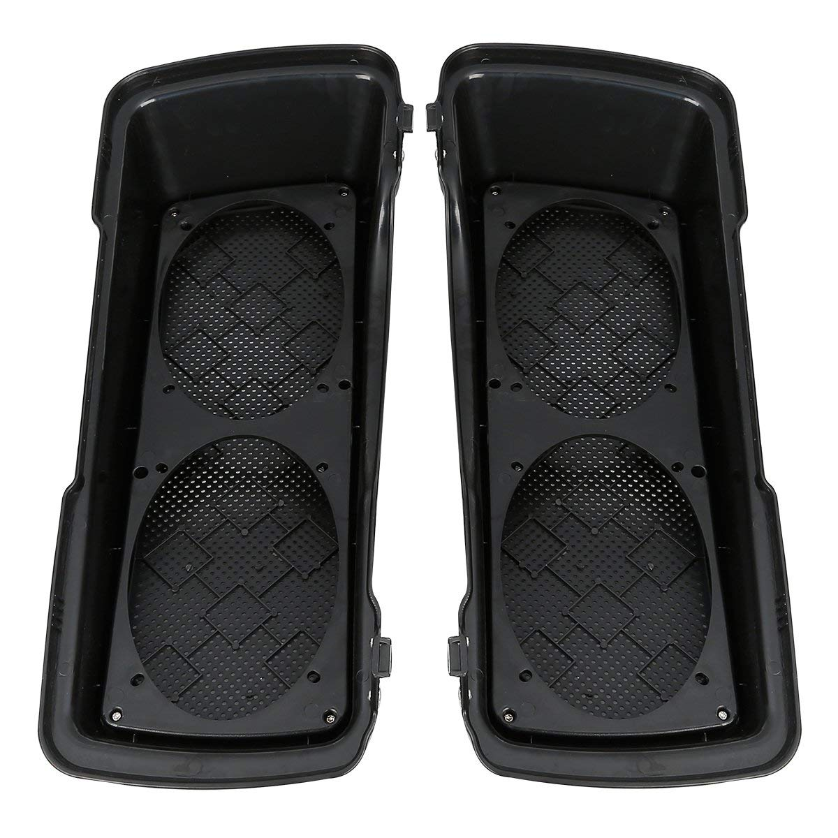 ALPHA MOTO Saddlebag Speaker Lids Compatible For Harley Davidson Touring Models Road King Electra Street Road Glide 1994-2013 FLHR FLHRC1 FLHS FLHT FLHTC FLHX FLHXSE FLHX FLHTK 1994-2013 Dual lids