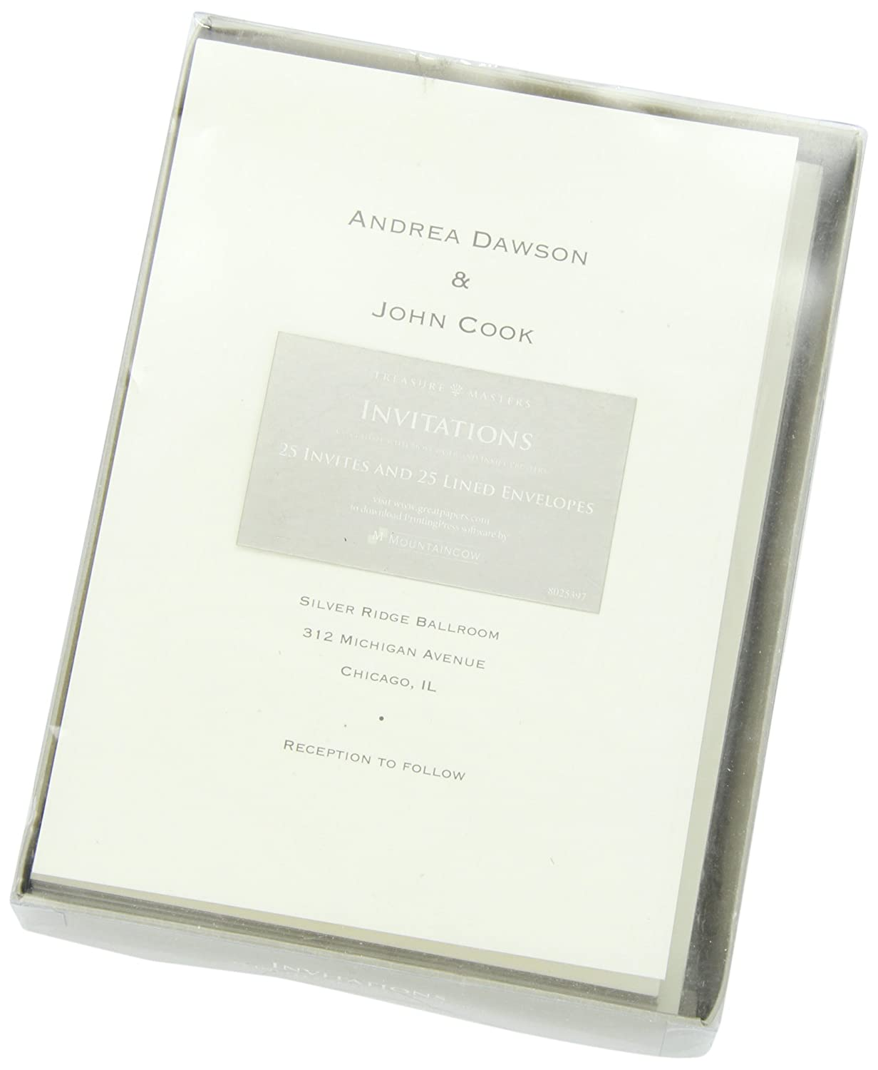 Amazon.com : Great Papers! Ivory Card Invitations with Pearl Lined ...