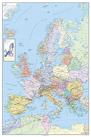 Amazon De Empireposter Landkarten Politische Europakarte