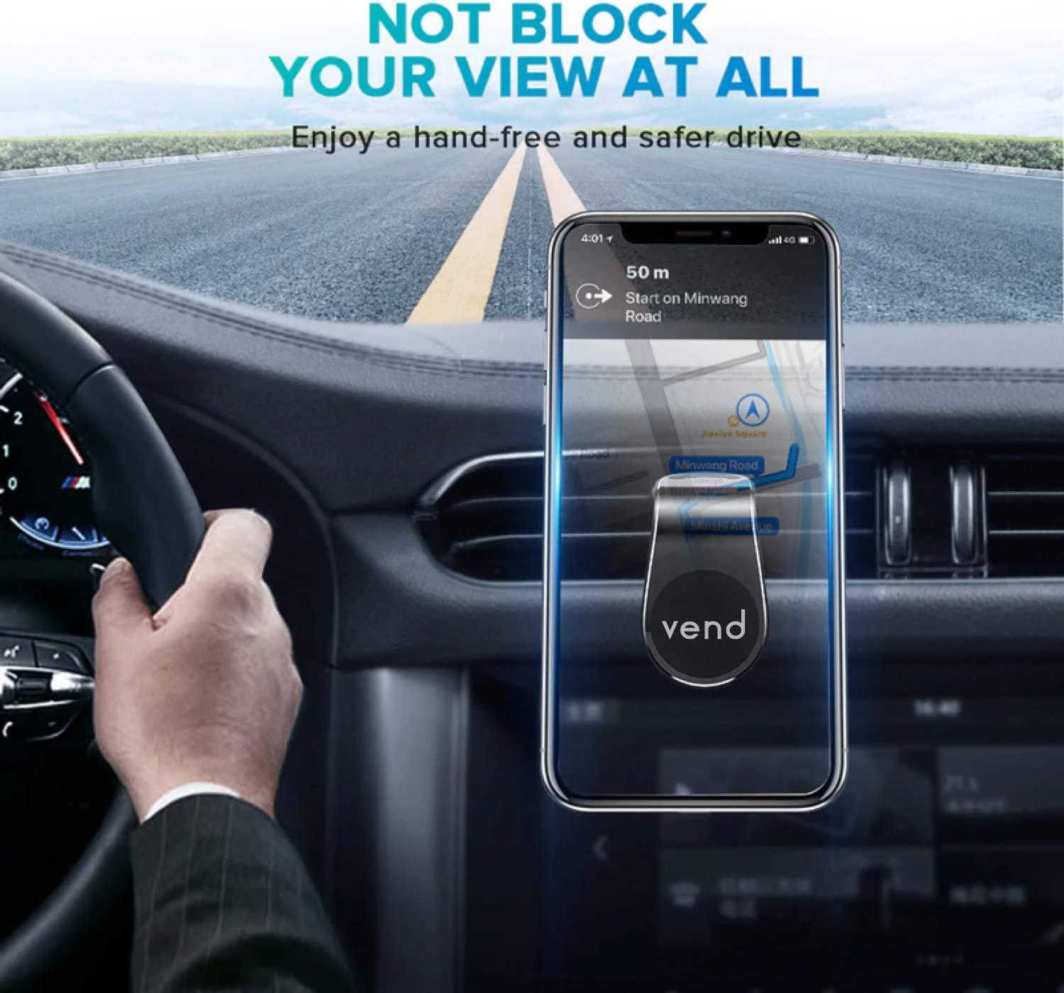 and All Smartphones Universal Car Phone Holder for iPhone LG Sony VEND Cell Phone Holder for Car Air Vent Samsung Magnetic Car Phone Mount Huawei Easy one Hand use Magnetic Phone Mount Nokia