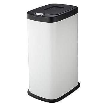 Mari Home Mülleimer, Weiß, 38 Liter, druckempfindlicher Deckel ...
