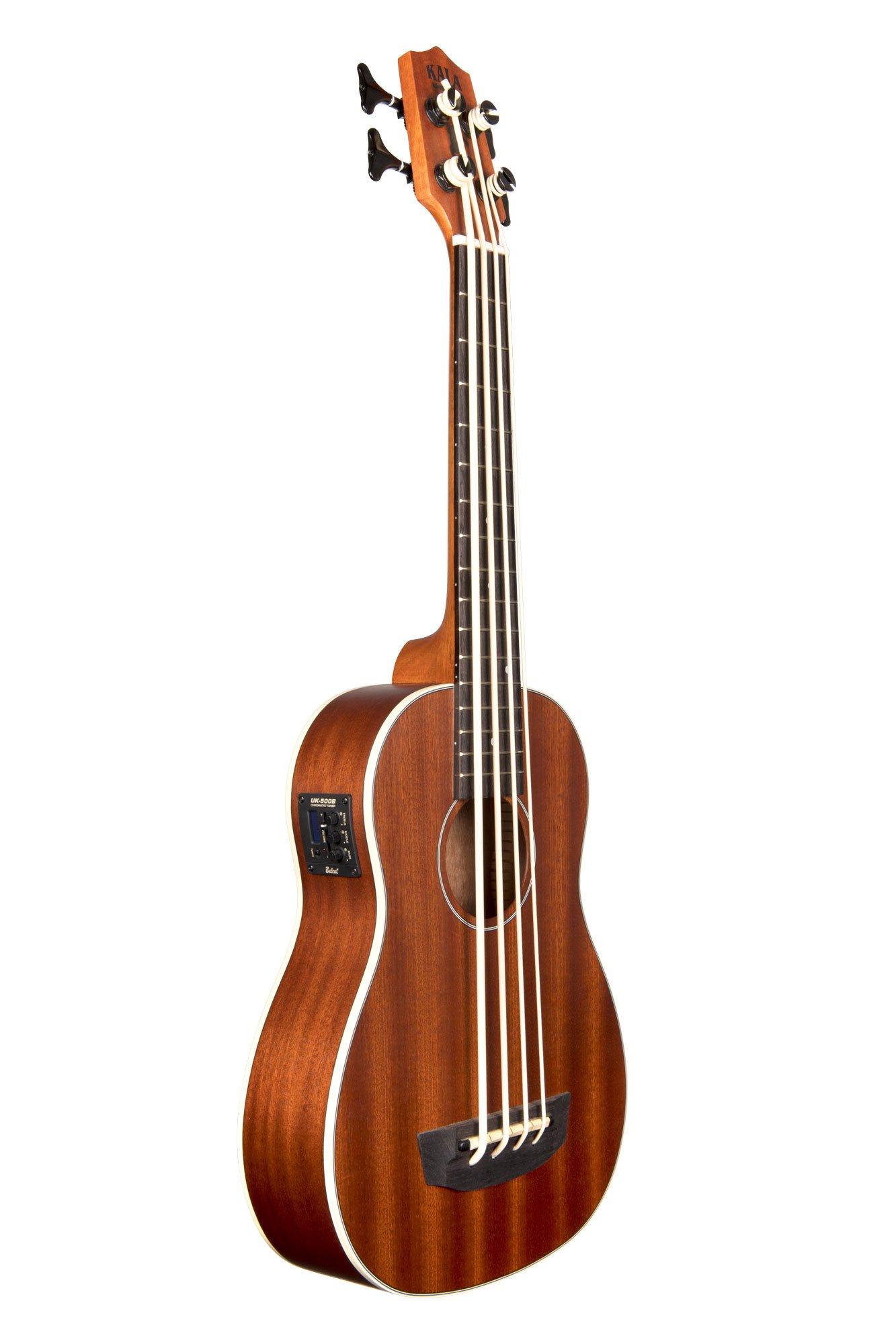 Kala U-Bass-PSGR-FS Passenger Acoustic-Electric U-Bass Ukulele Bundle with Gig Bag, Tuner, Austin Bazaar Instructional DVD, and Polishing Cloth by Kala (Image #3)