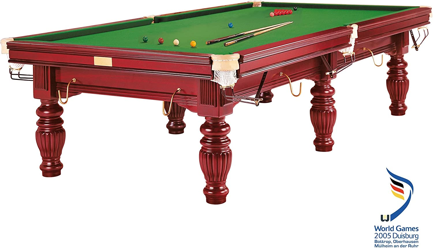 Mesa de Billar Dynamic Prince, 9 ft. (Soporte), Caoba, Snooker ...