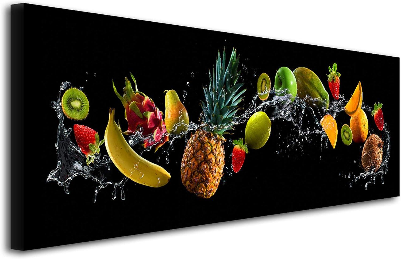 B/&D XXL murando Impression sur Toile intissee 100x50 cm 5 Pieces Tableau Tableaux Decoration Murale Photo Image Artistique Photographie Graphique Cuisine Boisson 030107-16