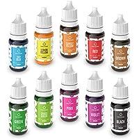 Colorante Alimentario Liquido Set 10×10ml, Abree Food Coloring Alta Concentración Colorante Reposteria para Colorear…