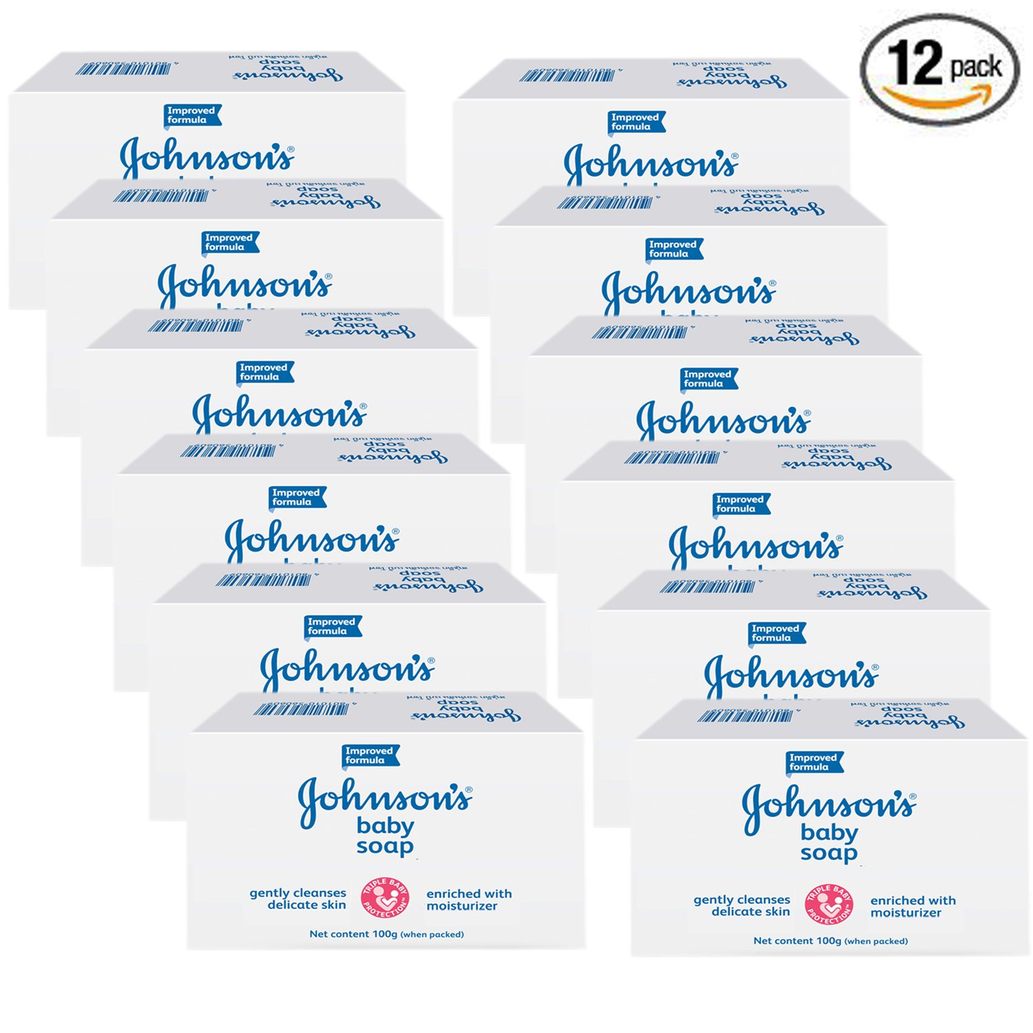 Johnson's - Johnson & Johnson Baby Soap Gentle 3.5 Oz. 100 G (Pk of 12) by Johnson's