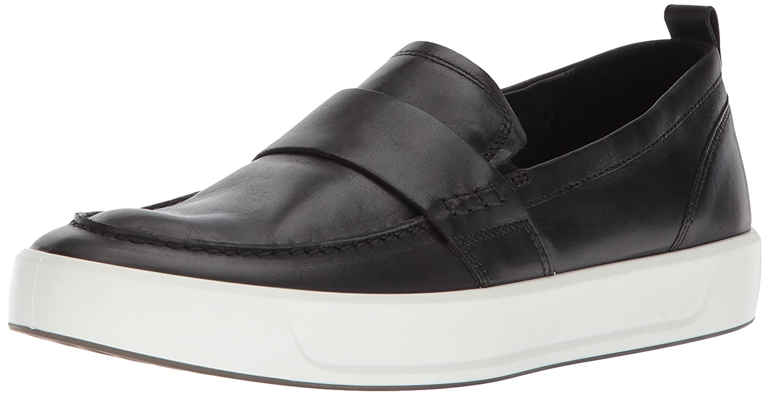 Black Loafer ECCO Men's Soft 8 Slip on Sneaker