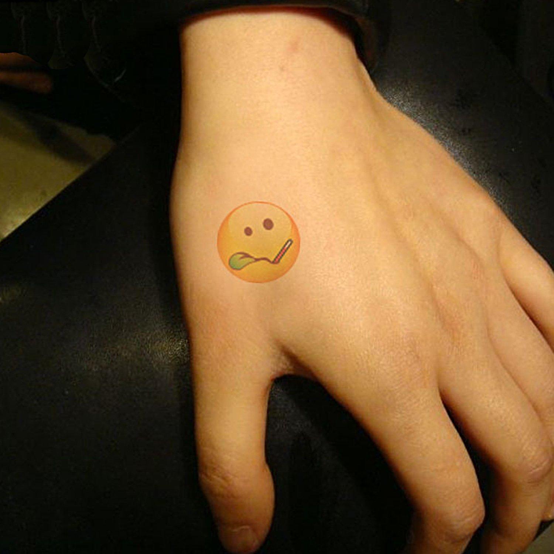 Tatuajes temporales Advgears Emoji, 384 tatuajes falsos de emoji ...