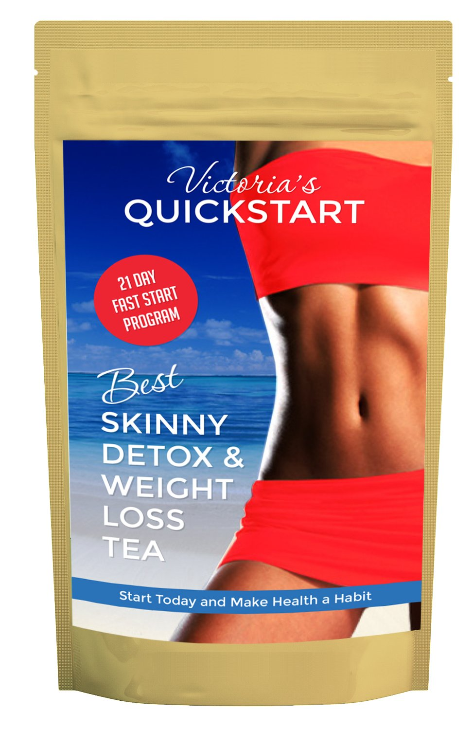 Skinny Detox Tea Waist Slimming, Diet Tea, Belly Fat, Fat Burner, Liver Cleanse, 8 Powerful Ingredients, 14 Days + 7 More Free! + $99 Quick Start Diet E-Book With Recipes Free! by Victoria's Body Shoppe