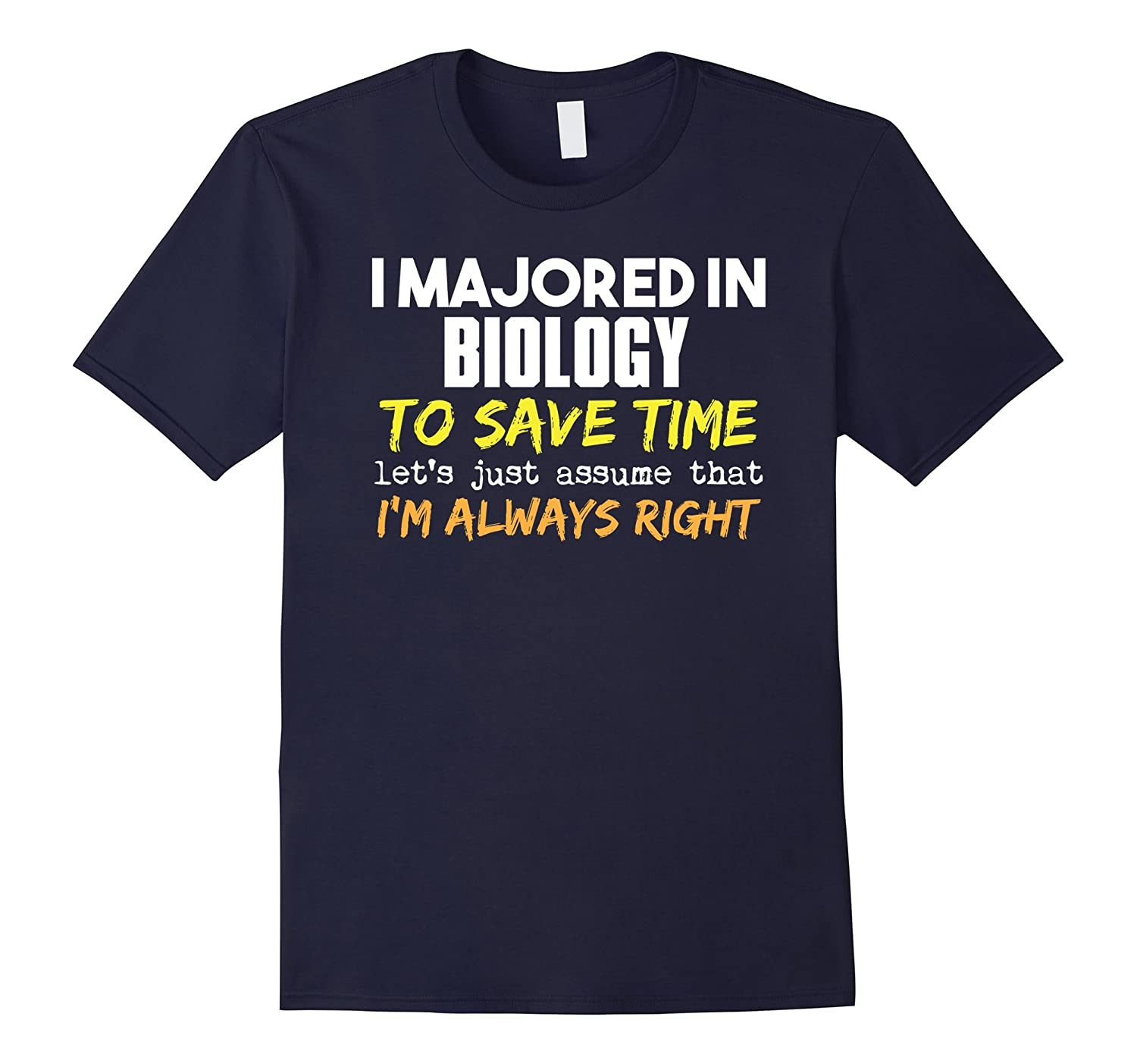 Biology Major T-Shirt for Back to School Gift-FL