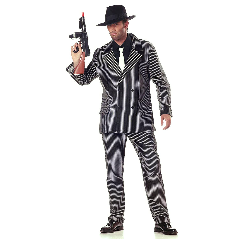 Amazon.com: California Costumes Men\'s Gangster Costume: Clothing