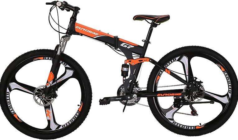 Amazon.com: Bicicleta de montaña plegable de 21 velocidades ...