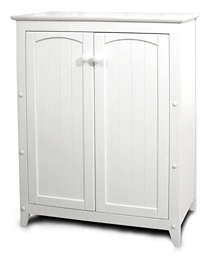 Amazon Catskill Craftsmen Double Door Kitchen Cabinet White