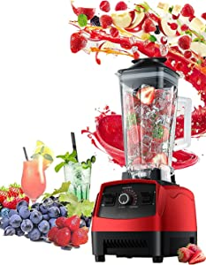 Powerful 1500-Watt Professional high speed Blender, Personal Blender for Shakes and Smoothies, High-Power Blender for Juice, Soups, frozen drinks and More, Stainless Steel Blades, Easy Self-Cleaning