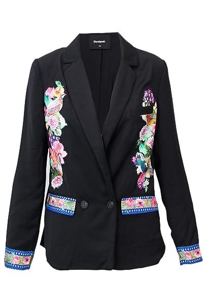Desigual Veste Femme AME PANEY 18WWEW43 Blazer 38 (s) Noir