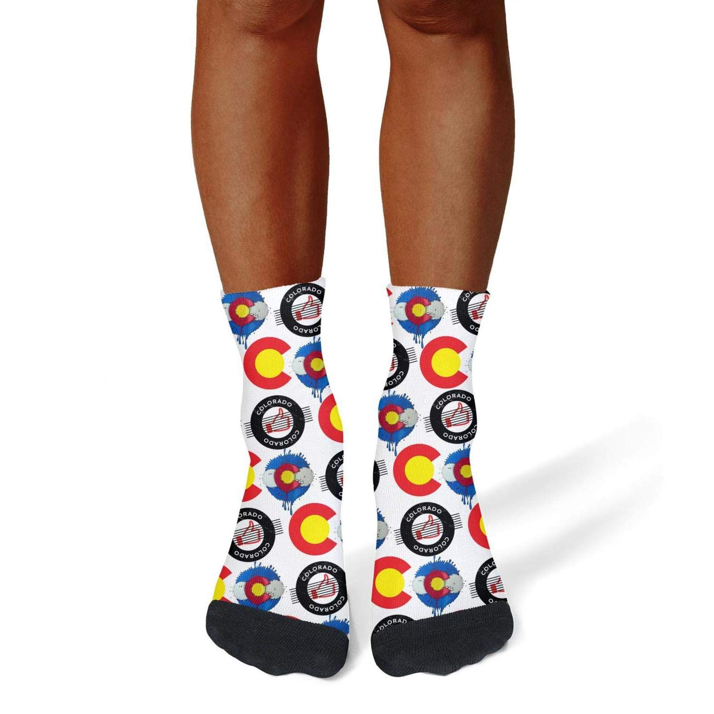 Tasbon Migny Hills Mens All-Season Sports Socks Colorado Athletic Socks for Men
