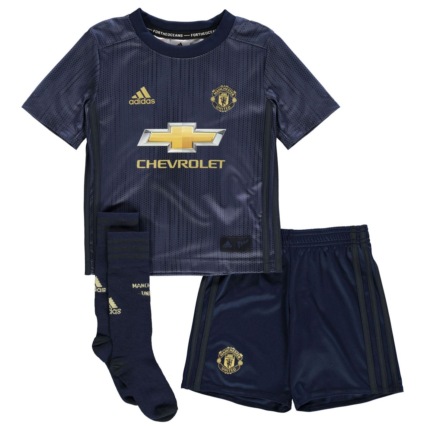 adidas Boys Manchester United Third Mini Kit 2018 2019