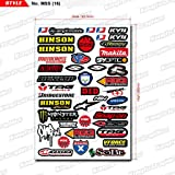 KUNGFU GRAPHICS カンフー グラフィックス Hinson レーシングスポンサーロゴ マイクロデカールシート(ホワイト)