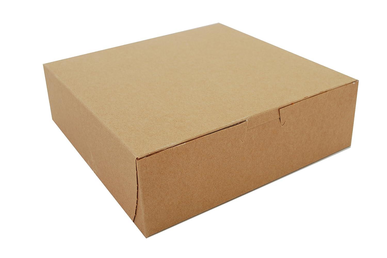 Southern Champion Tray 0933K Kraft Paperboard Non Window Lock Corner Bakery Box, 8