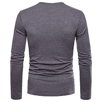 927606cd07307 Amazon.com  OrchidAmor Fashion Men s Personality Slim Fit Casual Long  Sleeve Solid Shirt Top Blouse  Clothing