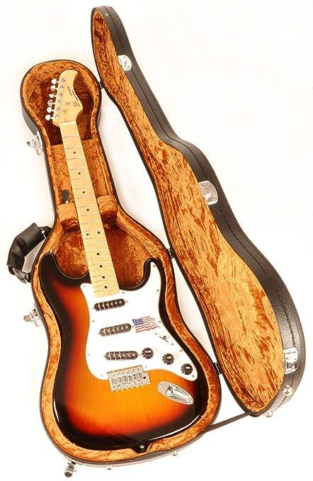b70d17f406e Amazon.com: Douglas EGC-450 ST BK/Gold Guitar Case for Fender Stratocaster  Telecaster Rickenbacker Epiphone Coronet Wilshire & Similar Models: Musical  ...
