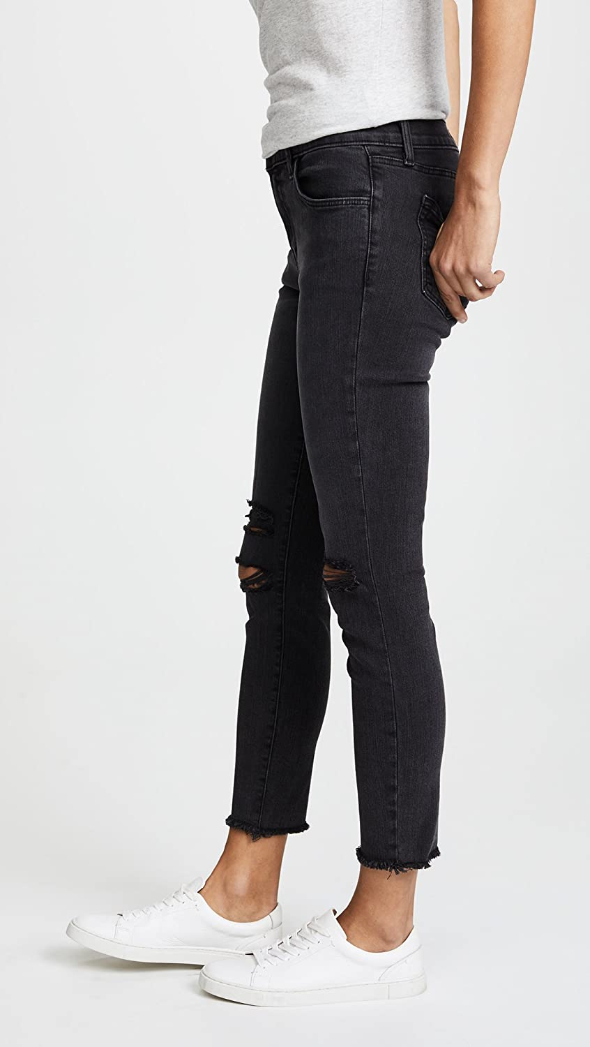 J Brand Womens Photo Ready Cropped Mid Rise Skinny Jeans