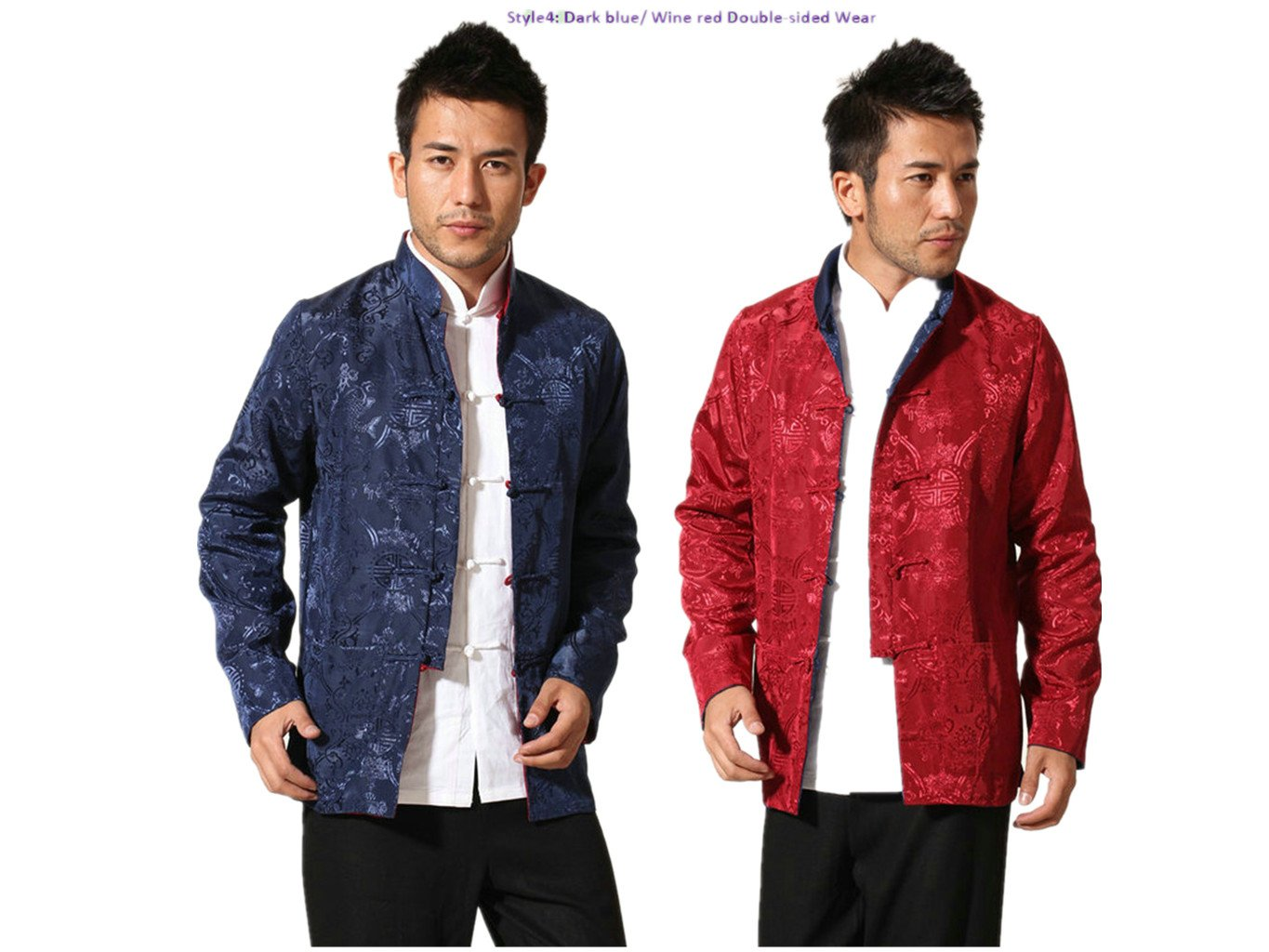 Brocade Silk Tang Suits Double-sided Wear Retro Jackets Coats Business Jackets Full Dress
