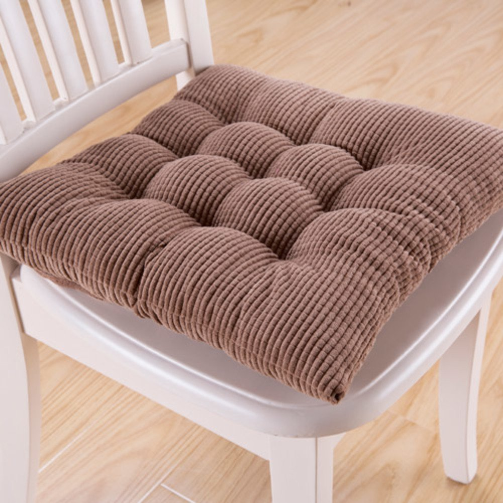 Square seat pad, Non-Slip seat Cushion, Thicken Chair pad, Breathable Cushion for Living Room Floor Kitchen-A 38x38x6cm(15x15x2) XJ&DD
