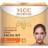 VLCC Ayurveda Natural Fairness Chandan and Kesar Facial Kit- 50g