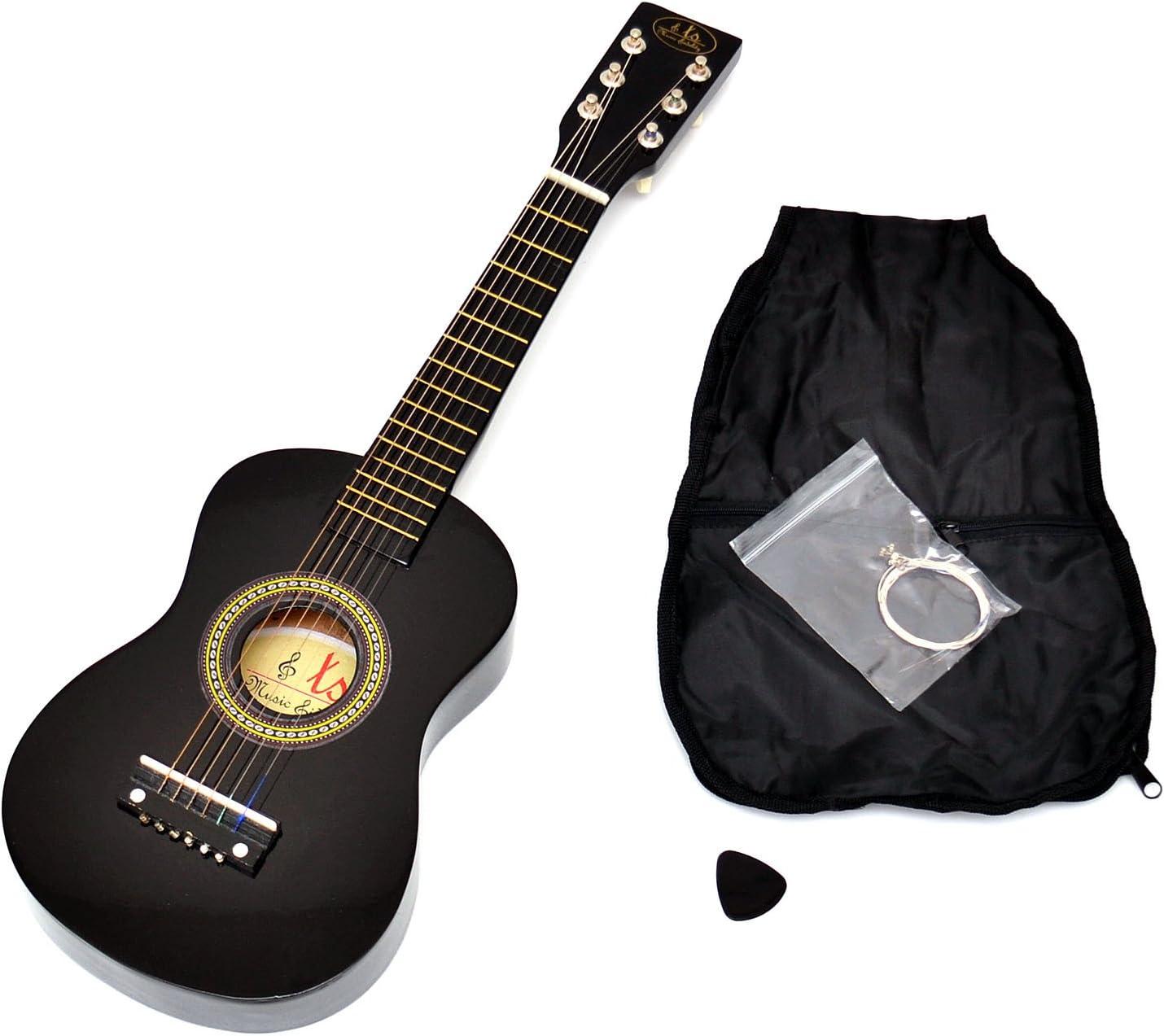 Guitarra para Niños, Guitarra de madera de 59 cm en negro, a ...