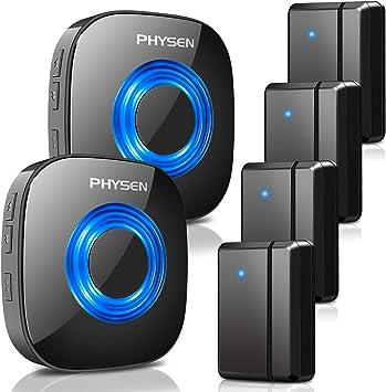 Wireless Door Sensor Chime PHYSEN Alarm Contact Sensor Door Bell for Office//Home