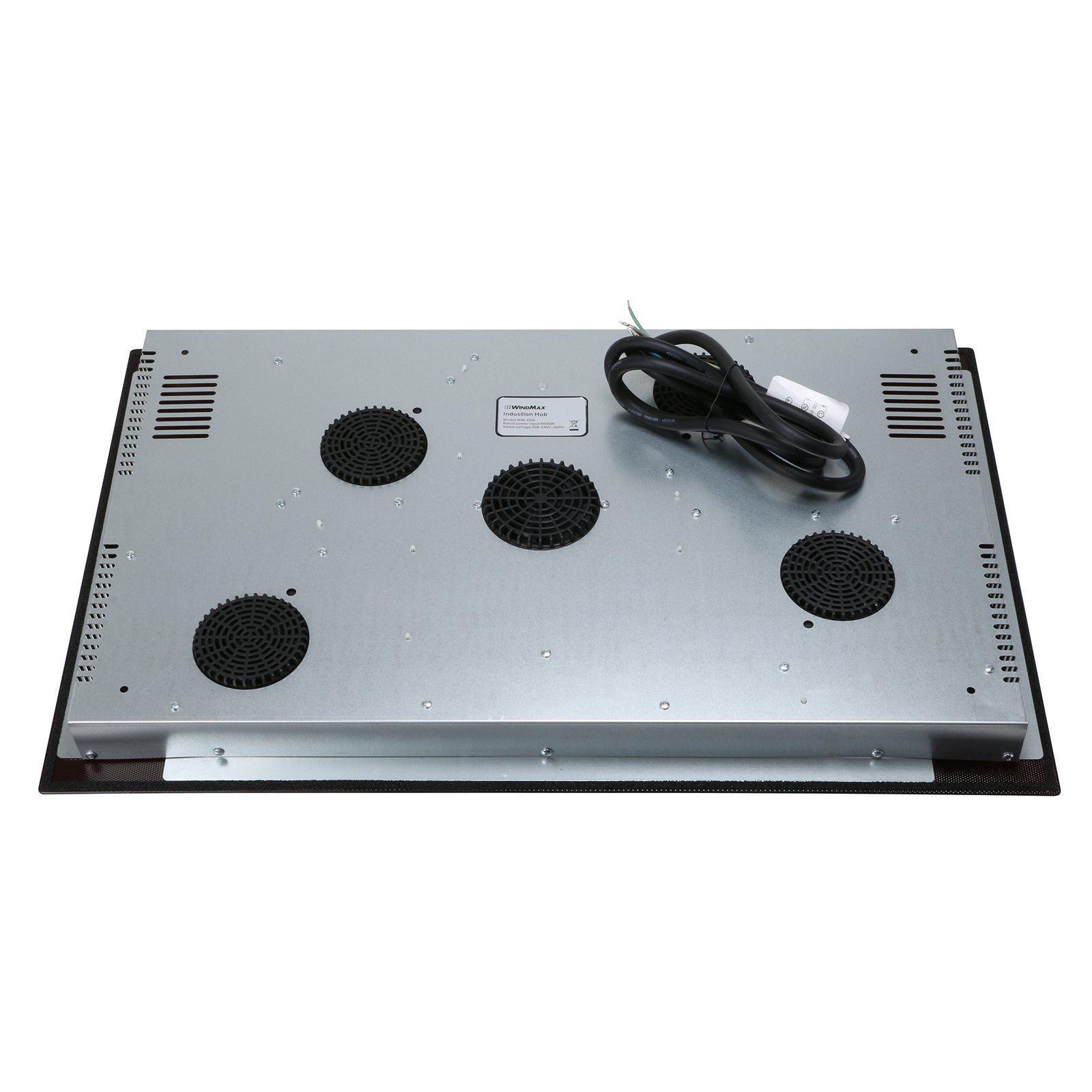 WindMax Hot Sale 31.5 Induction Hob 4 Burner Stove Cooktops Black Crystal Glass Plate 6600W 240V