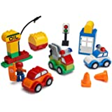 Play Build Car Creator Building Blocks Set – 52 Pieces – Includes Mechanic Minifigure, Garage Accessories & Base Parts to Create a Police Car, Oil Rig, Tow Truck & More – Compatible with DUPLO
